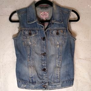 Abercrombie Authentic Vintage Denim Vest Sz. L